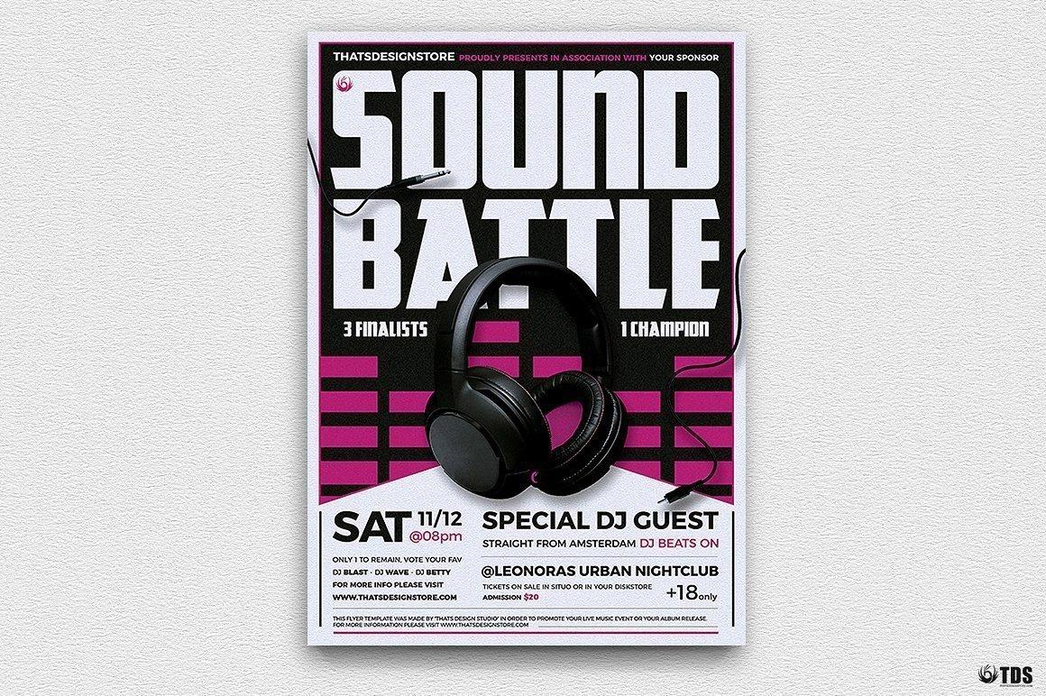 DJ Battle Flyer Template V3