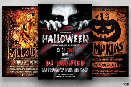 Halloween Flyer Bundle Psd templates 2