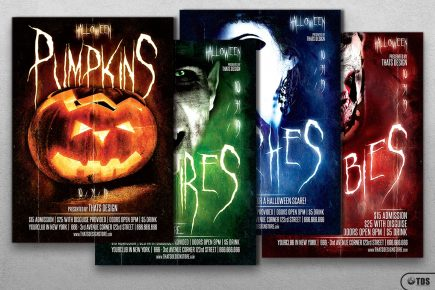 Halloween Flyer Template V10 (4 in 1)
