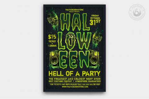 Halloween Flyer Template psd download design V13