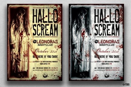Halloween Flyer Template psd download design V18