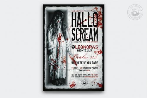 Halloween Flyer Template psd download design V18