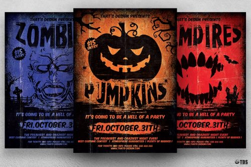 Horror Night Halloween Flyer Template V.4
