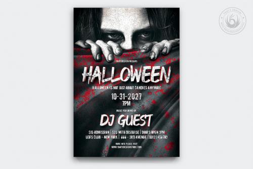 Halloween Flyer Template psd download design V.5