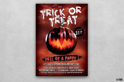 Halloween Flyer Template psd download design V6