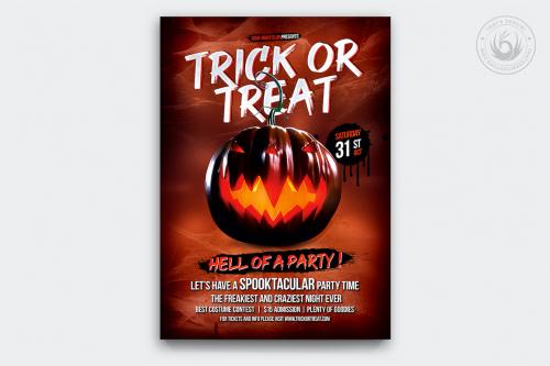 Halloween Flyer Template psd download design V6
