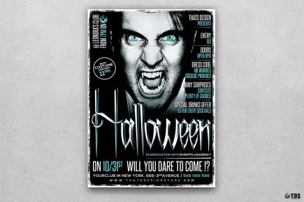 Halloween Flyer Template psd download design V7