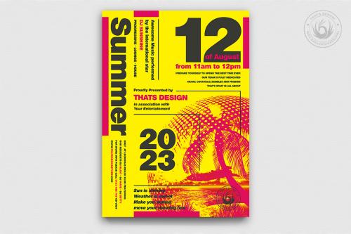 Minimal Summer Flyer Templates psd design