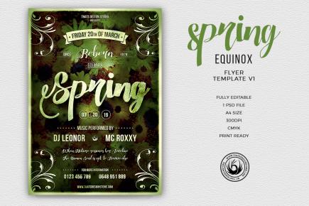 Spring Equinox Flyer Template
