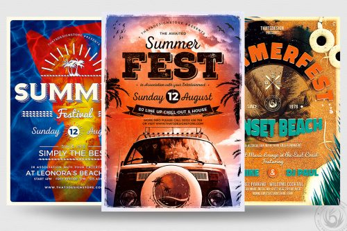 Summer Fest PSD Flyer Templates Download
