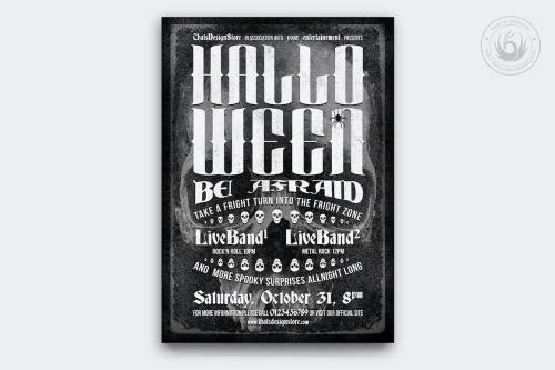 Halloween Flyer Template psd download design V11