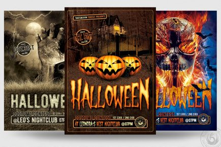 Halloween Flyer PSD Design Templates