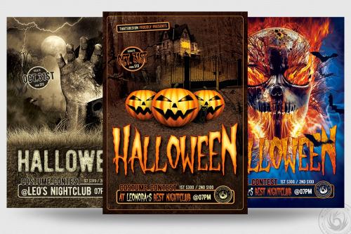 Halloween Flyer PSD Design Templates