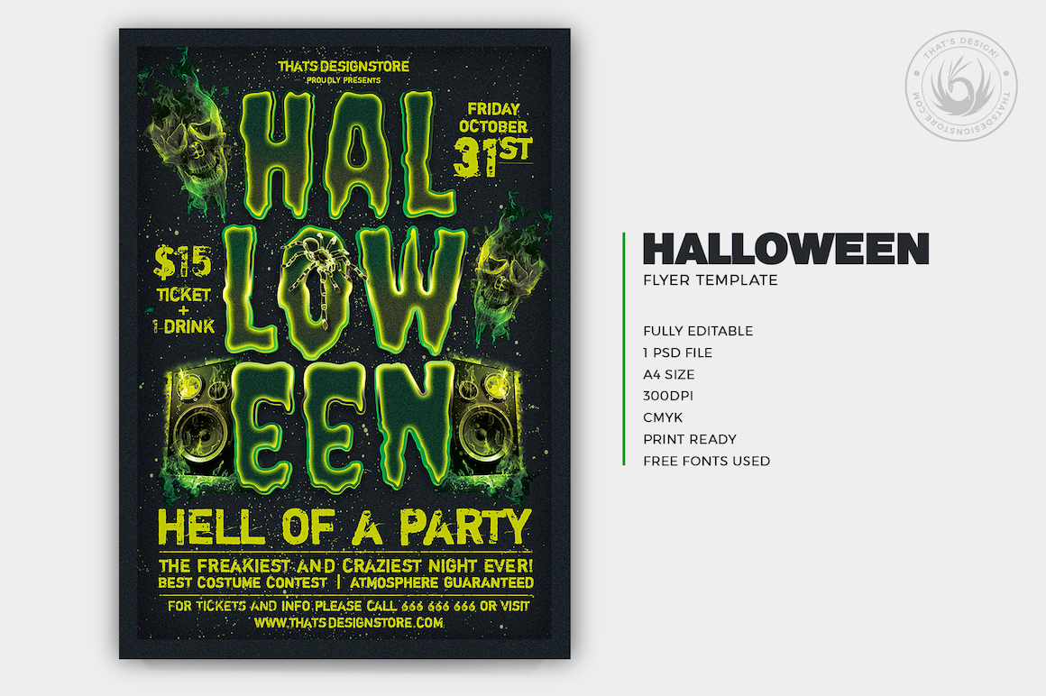 Halloween Flyer Template V13