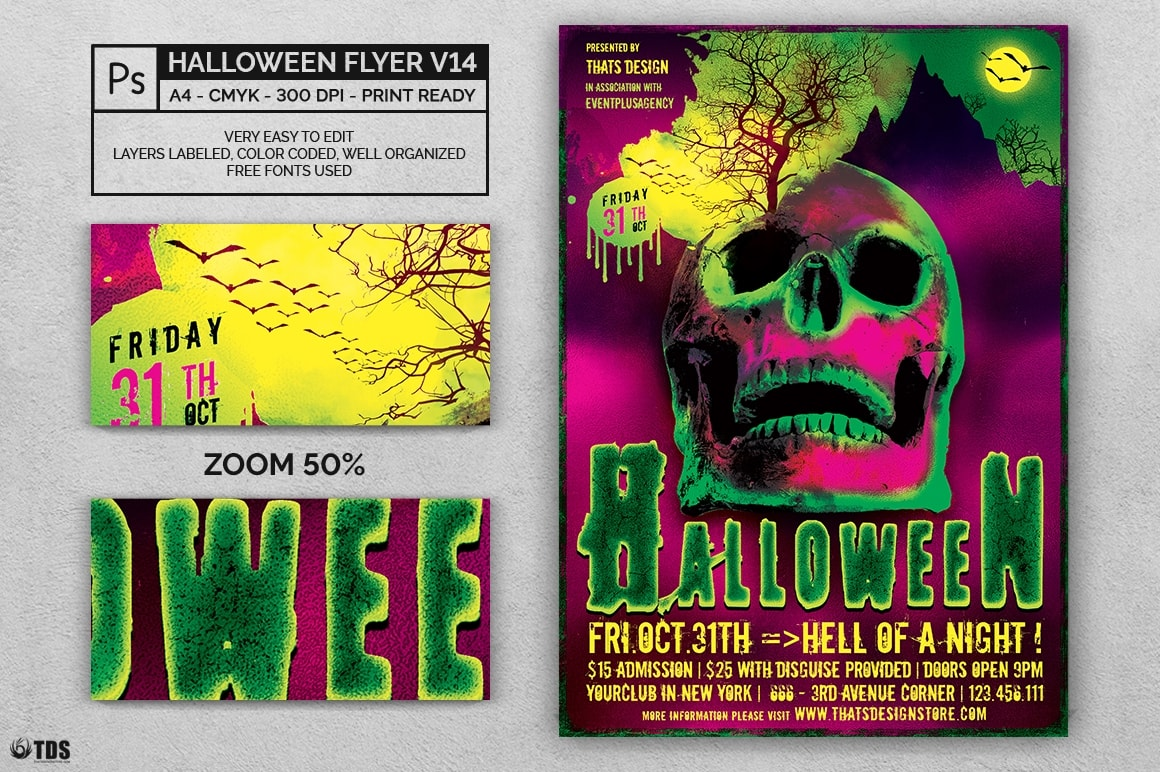 Halloween Flyer Template PSD V14