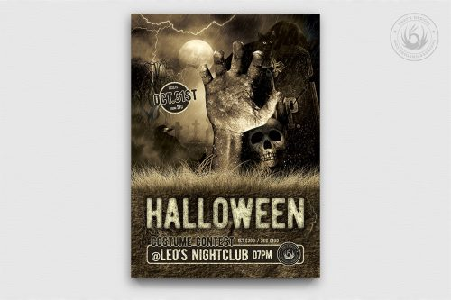 Halloween Flyer Template PSD Design to customize Vol.2