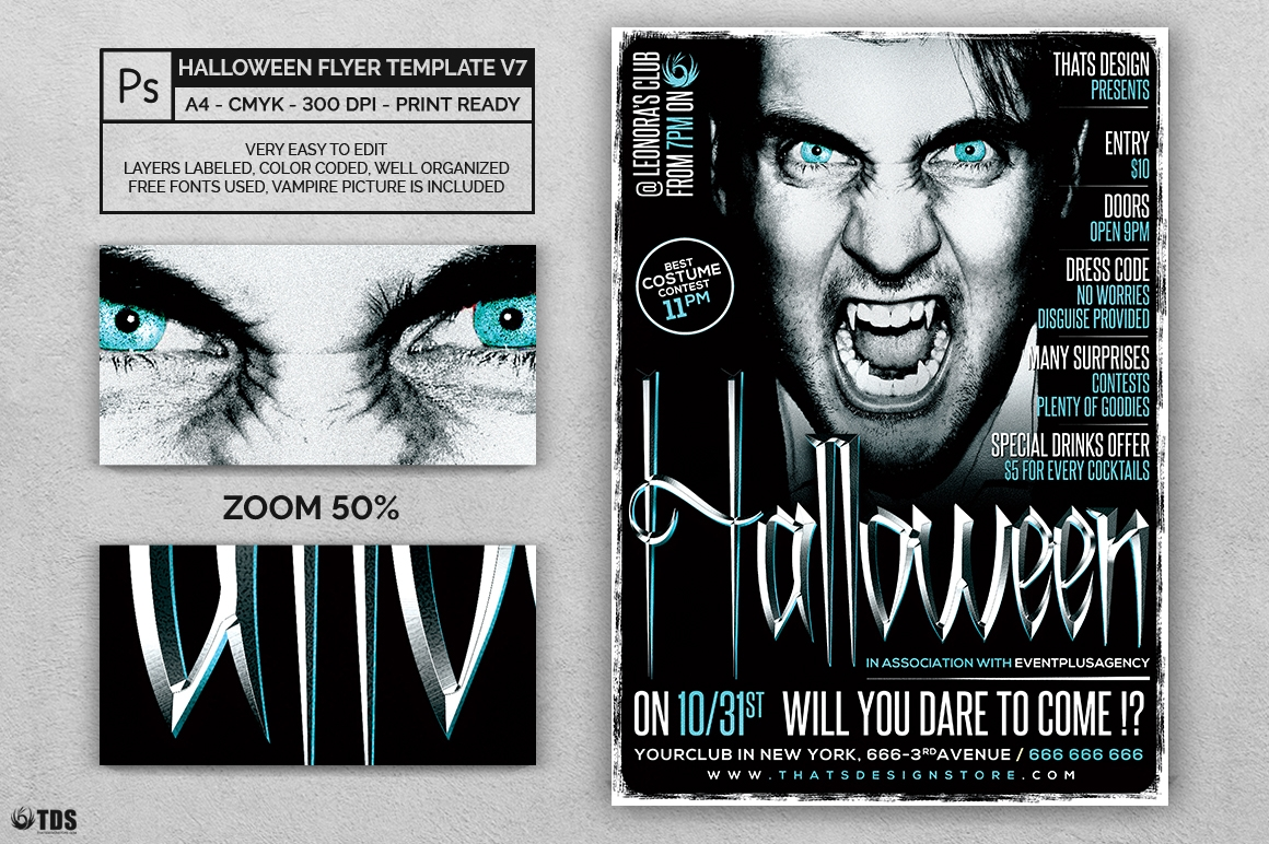 Halloween Flyer Template V7