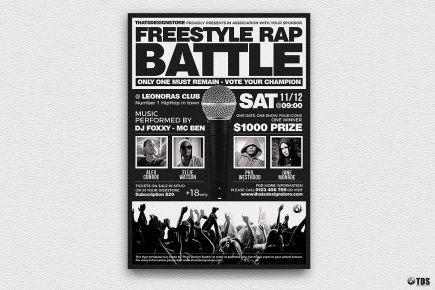 Freestyle Rap Battle Flyer V4