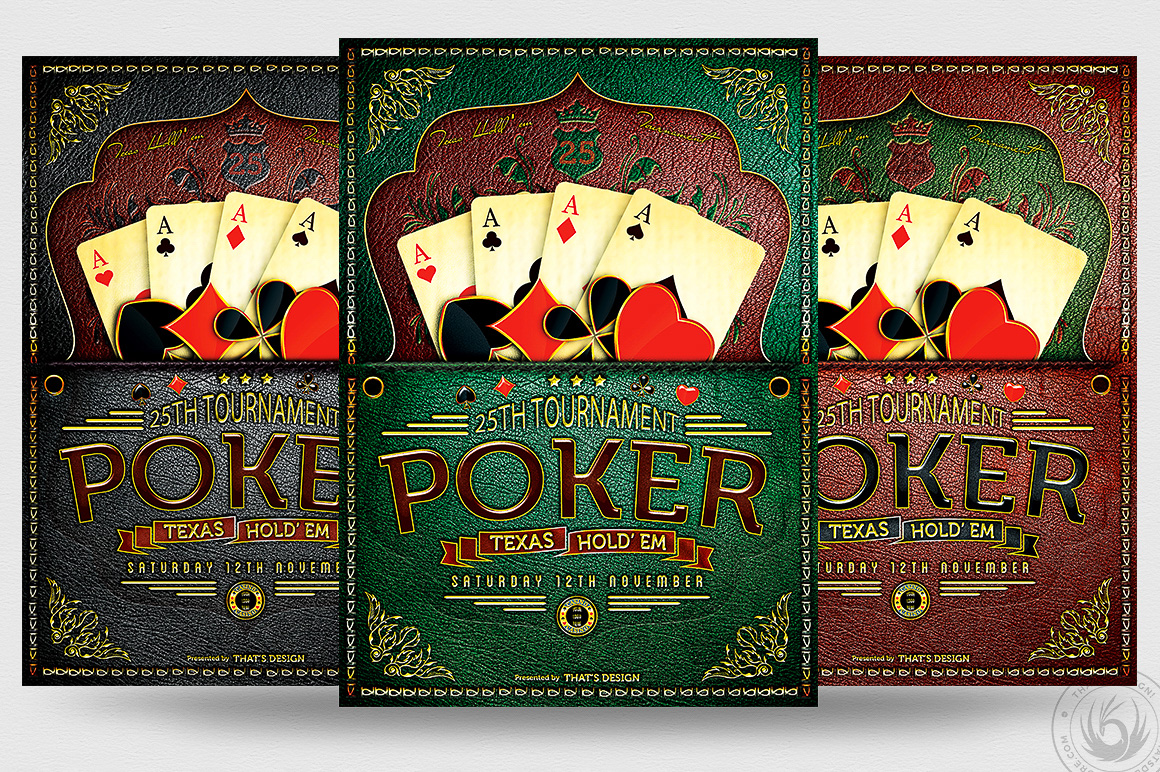poker tournament flyer template psd design for photoshop