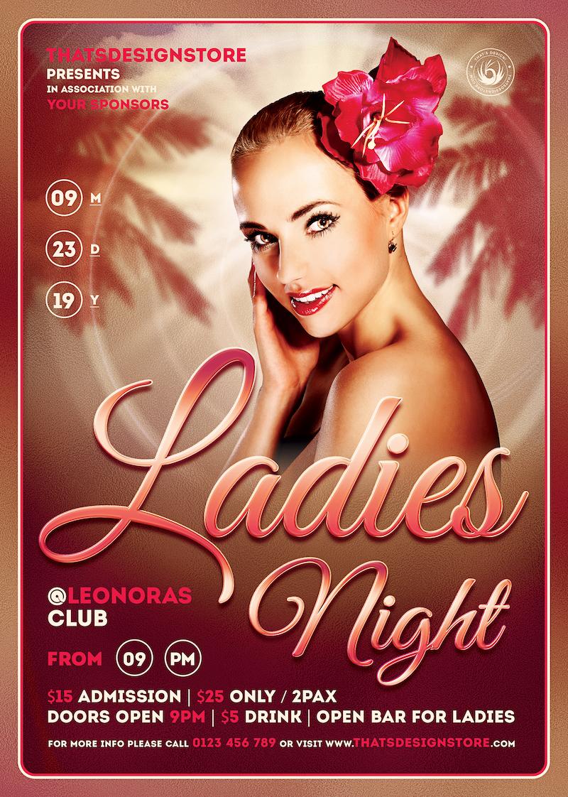 sensual ladies night flyer template