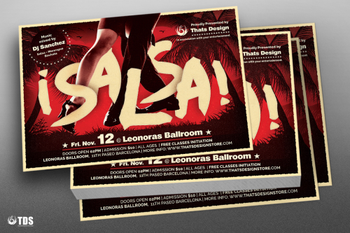 Salsa Flyer Template V5