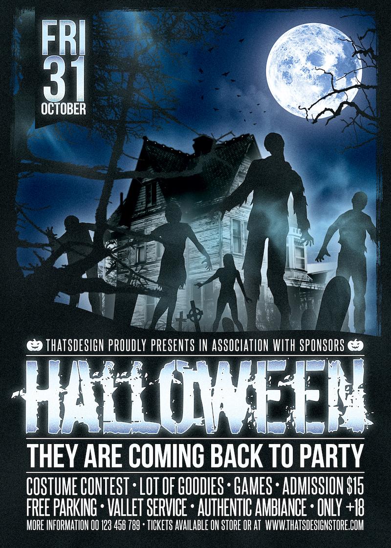Halloween Flyer Template V16