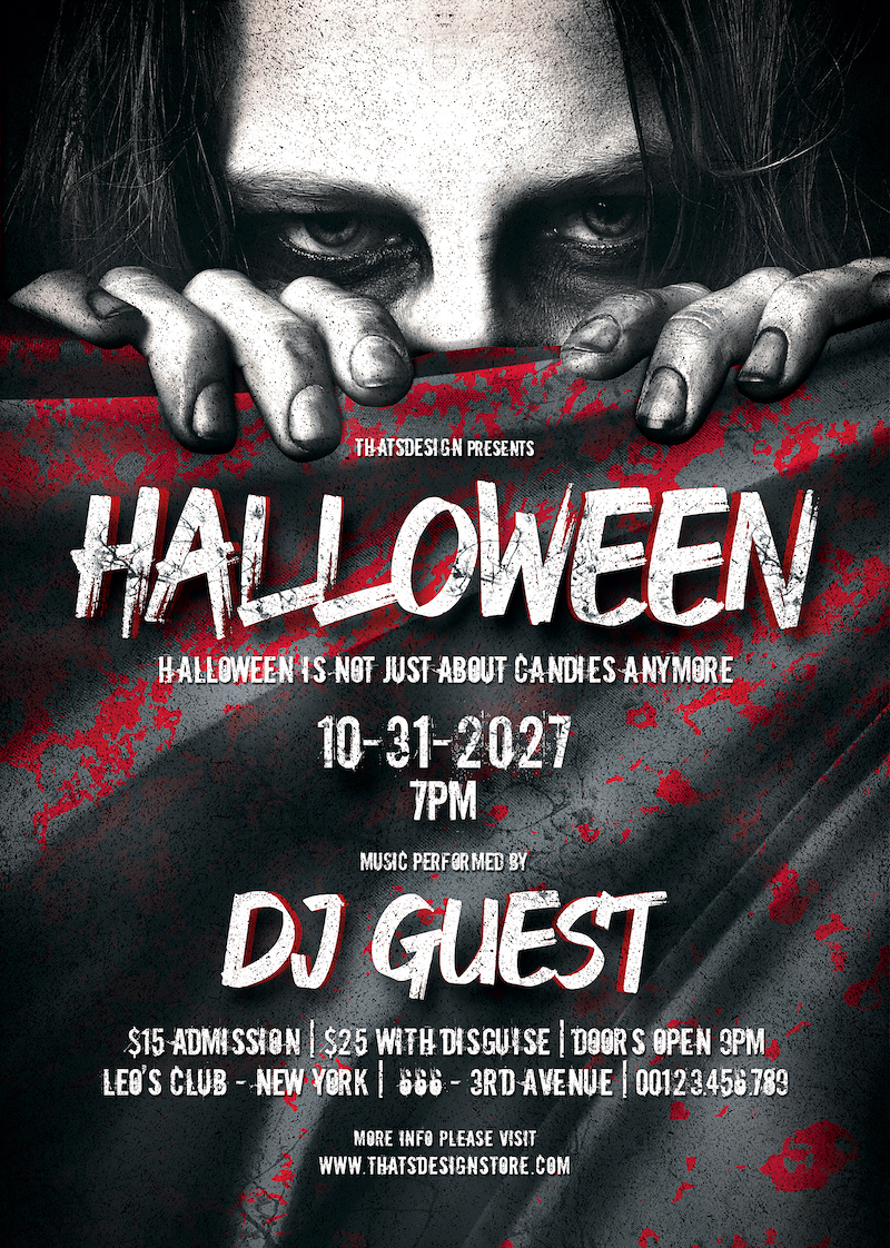 Halloween Flyer Template Psd download design
