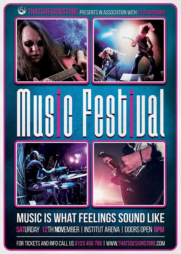 Music Festival Flyer Template V15