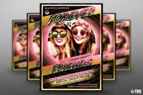 Forever Friends Flyer Template PSD