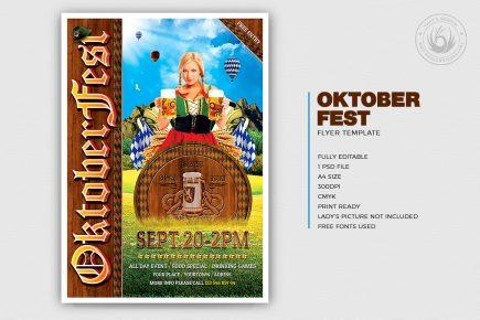 Beer Party Oktoberfest Flyer Template V.3