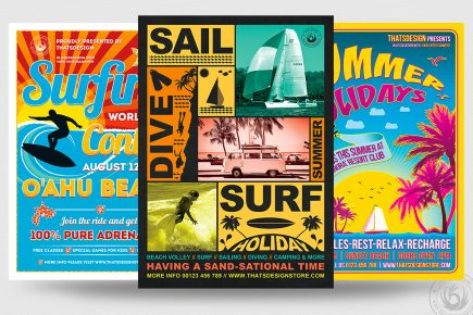 Summertime Flyers Bundle - 3 PSD