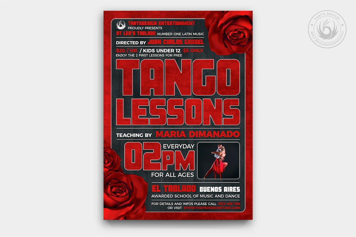 Tango Flyer Template PSD V.2