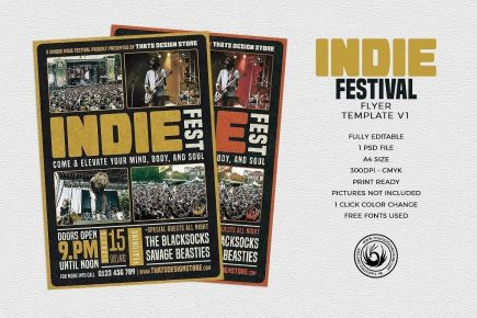 Indie Fest Flyer Template V1