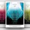 Minimalist Dj Club flyers posters, Momentum Minimal Flyer Template