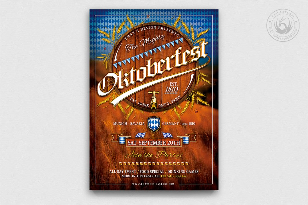 Beer Party Oktoberfest Flyer Template V.2