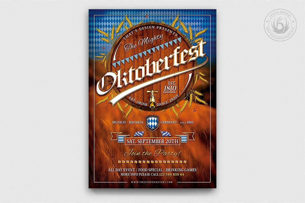 Beer Party Oktoberfest Flyer Template V.2