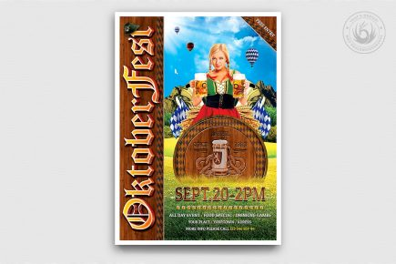 Beer Party Oktoberfest Flyer Template psd design download V.3