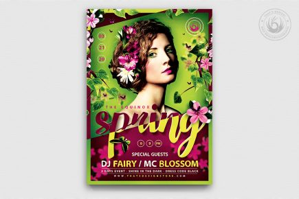 Spring day Equinox Flyer Template V5, green, ecological, earth day,