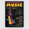 Music Festival Flyer Template PSD V10
