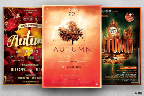 Autumn Equinox Flyer Templates Bundle