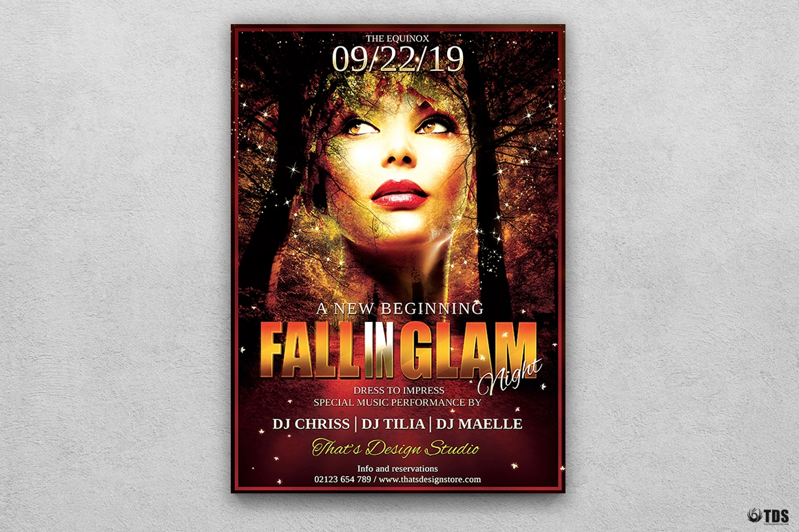 Fall Party Flyer Template V3