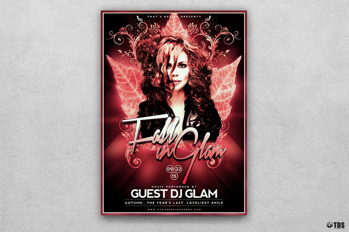 Autumn Fall Party Flyer Template V4