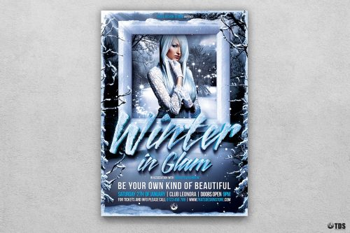 Winter Glam Flyer Template