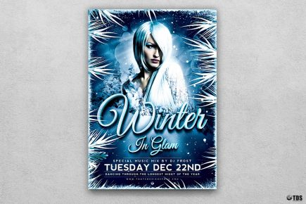 Winter Glam Flyer Template V3