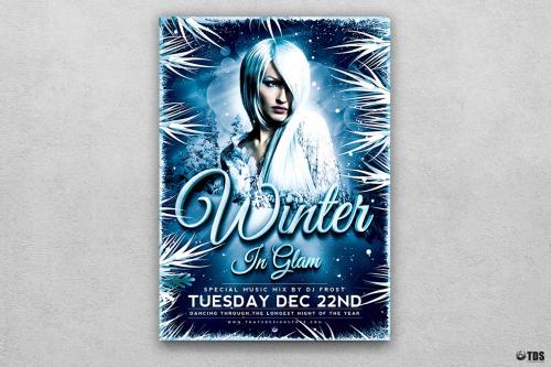 Winter Glam Flyer Template V3