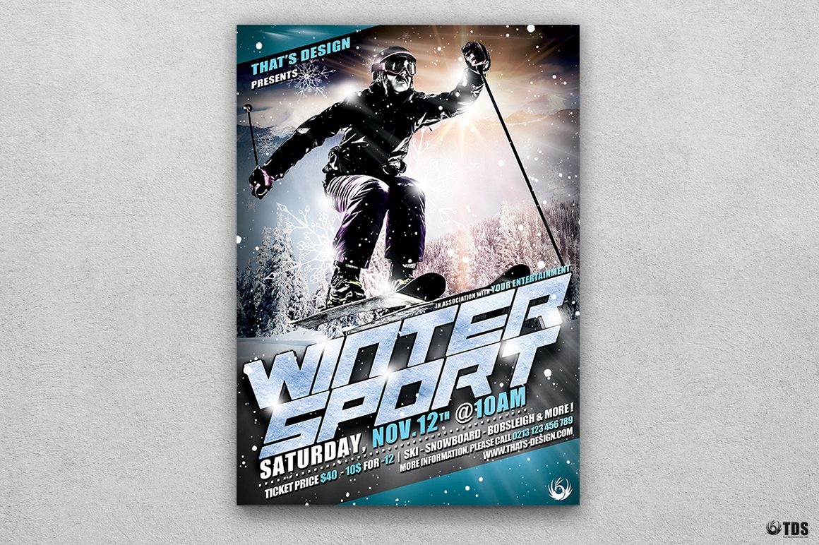 Winter Sports Flyer Template