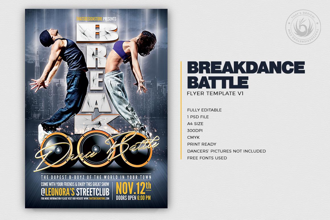 Break Dance Battle Flyer Template PSD Download