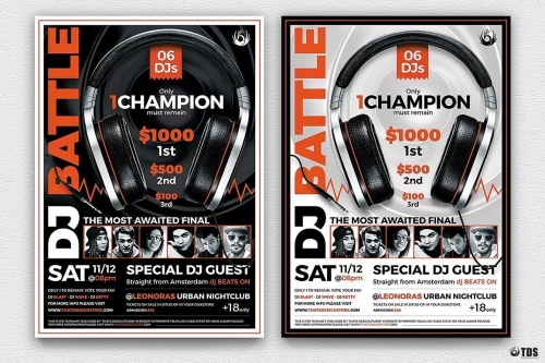 Dj Battle Flyer Psd Template V.5