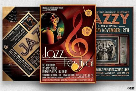 Jazz Festival Flyer Bundle V2