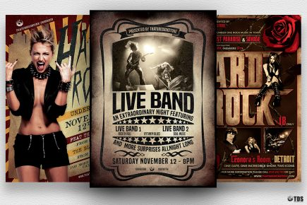 Live Band PSD Flyer Templates Bundle V1